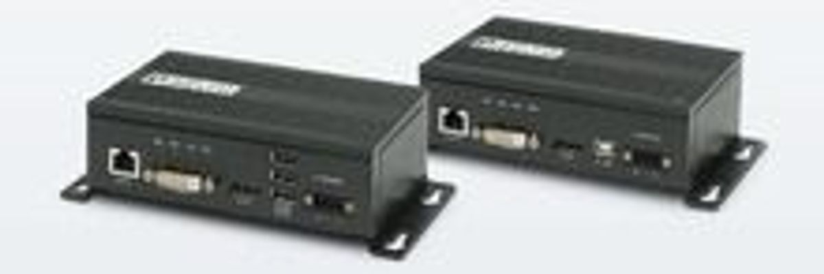 KVM expander for distances up to 90 m: solution for remote control devices