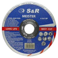Circle abrasive cutting metal and stainless steel Meister A 36 S BF 125x1,6x22,2 131016125 S & R