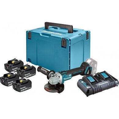 Angular grinder Makita DGA504 (198830-2) + set of batteries